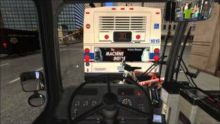 getlinkyoutube.com-OMSI Chicago -- Round trip on Route 124 with Articulated Bus (HD)