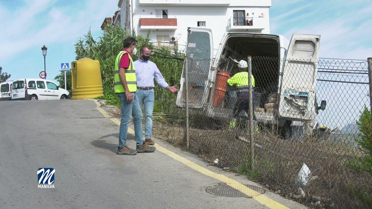 Mejoras en el saneamiento de la entrada a Manilva