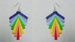 getlinkyoutube.com-quilling paper earrings new design - quilling paper Earrings Making Tutorial