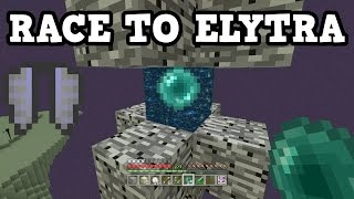getlinkyoutube.com-Minecraft Xbox One / PS4 RACE TO ELYTRA - Survival End Ship