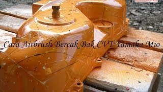 getlinkyoutube.com-Cara Airbrush Bercak Bak CVT Yamaha Mio