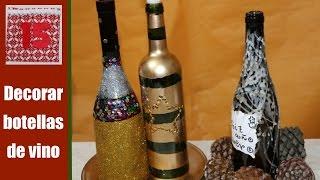 getlinkyoutube.com-Cómo decorar botellas para hacer candelabros