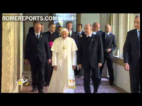 Pope visits Martin Luther's convent