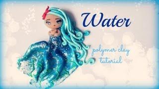 getlinkyoutube.com-4 Elements - Water - Polymer clay Tutorial ❀ Doll Chibi
