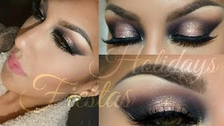 getlinkyoutube.com-Holidays - Fiestas  tutorial Maquillaje