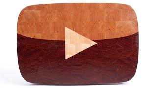 "getlinkyoutube.com-Making ""YouTube Play Button"" end grain cutting board"