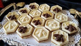 getlinkyoutube.com-حلوة الشهدة اوحلوة النحلة-حلوة بريستيج بدون فرن - Honeycomb chocolate with peanut filling