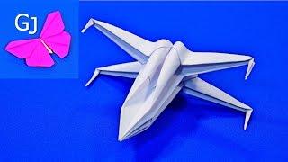getlinkyoutube.com-Истребитель X-WING из бумаги ~ Оригами звездные войны