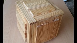getlinkyoutube.com-Wooden puzzle boxes with two secret compartments