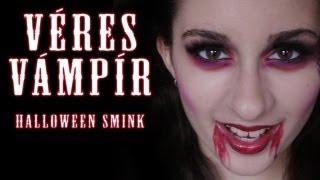 getlinkyoutube.com-Halloween smink - Véres Vámpír