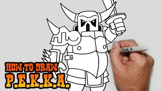 getlinkyoutube.com-How to Draw P.E.K.K.A.- Clash of Clans- Simple Video Lesson