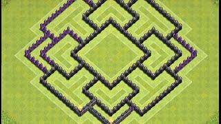 getlinkyoutube.com-Diseño de aldea Defensiva ayuntamiento nivel 8