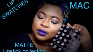 getlinkyoutube.com-MAC the matte lipstick collection + LIVE LIP SWATCHES ON DARK SKIN 2015 #thepaintedlipsproject