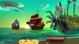 getlinkyoutube.com-Captain Jake and the Never Land Pirates | Ghost Island | Disney Junior UK
