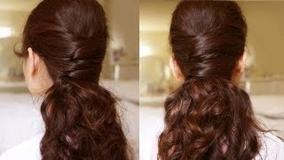 getlinkyoutube.com-Elegance Half Updo Hair Tutorial