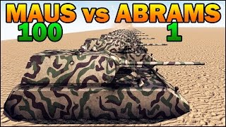 getlinkyoutube.com-100 MAUS vs 1 ABRAMS - WW2 TANK vs MODERN TANK - Call to Arms - Scenario #4
