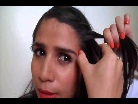Peinado con trenza sencilla de dos cabos. (Fácil)