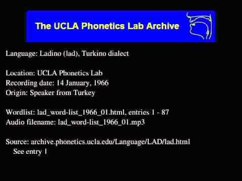 Ladino audio: lad_word-list_1966_01