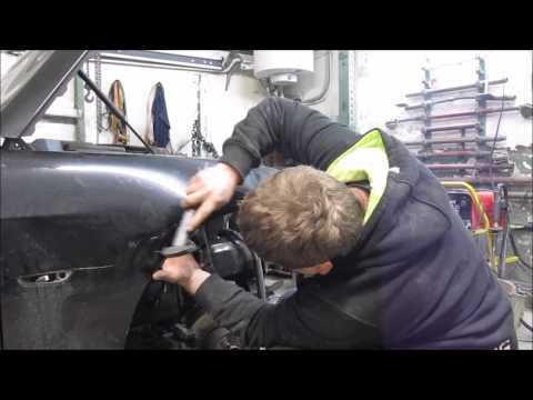 The fender repair. Ремонт крыла.