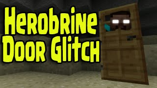 Minecraft PS3, PS4, Xbox, Wii U - HEROBRINE DOOR GLITCH