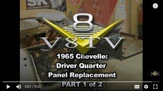 getlinkyoutube.com-1965 Chevelle Quarter Panel Install Pt. 1 V8TV-Video