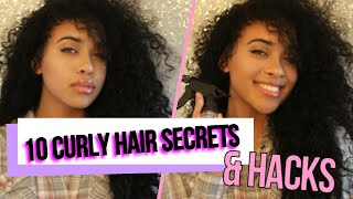 10 Curly Hair Secrets & Hacks EVERYONE Should Know!
