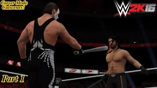 getlinkyoutube.com-WWE 2K16 My Career Mode Cutscenes Part 1 (Fighting the Authority & teaming with Sting!)