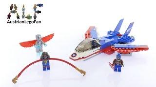 getlinkyoutube.com-Lego Super Heroes 76076 Captain America Jet Pursuit - Lego Speed Build Review