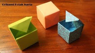 getlinkyoutube.com-Cara membuat origami Kotak mudah