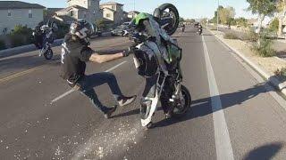 Motorcycle WRECK At BEAT THE HEAT AZ