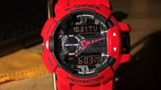Casio G-Shock Bluetooth GBA-400 G'MIX Shift Hands function, Bluetooth Set-up and LED Backlight.