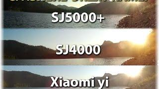 getlinkyoutube.com-Сравнение Sj4000 vs Sj5000 plus vs Xiaomi yi | Обзор Китайских Экшн камер