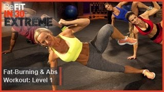 getlinkyoutube.com-Fat Burning and Abs Workout Level 1 | BeFit in 30 Extreme
