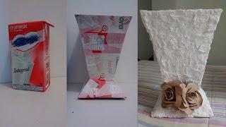 getlinkyoutube.com-Como fazer vasos com caixa de leite -2