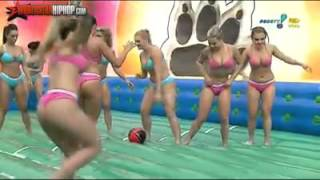 getlinkyoutube.com-GIRLS PLAY FOOTBALL IN THE WATER WITH SOAP! ~HOT~HOT~HOT~