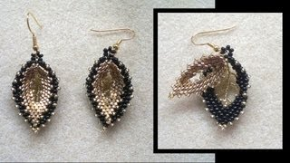 getlinkyoutube.com-Beading4perfectionists : Double Russian leaf earrings beading tutorial (video version)
