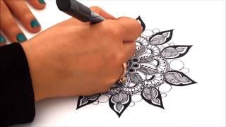 getlinkyoutube.com-Zendala Drawing Tutorial High Speed - By Mariam Belhaj