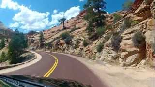 getlinkyoutube.com-Zion Nationalpark - Scenic Drive, Utah - Full Ride - Onboard Front View