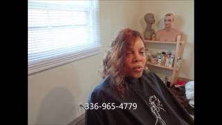 getlinkyoutube.com-Full Sew in No Glue No Leave Out Invisible Hairline (Official)