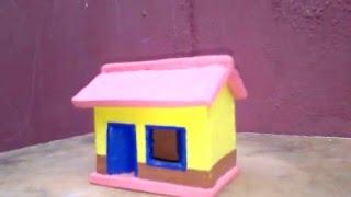 getlinkyoutube.com-Miniatura - Casa de Cerâmica - Miniature  House - Part 1