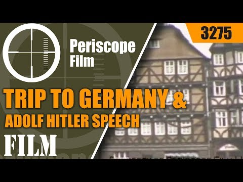 1938 NAZI GERMANY - Trip to Nazi Germany & Adolph Hitler Speech in Color 3275
