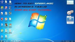 getlinkyoutube.com-How to get GPedit.msc on Windows 7,8,8.1,10