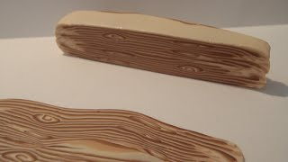 getlinkyoutube.com-Polymer Clay - Making A Wood Cane For A Lot Of Things