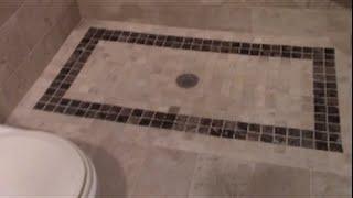 getlinkyoutube.com-How To Build A Curbless Shower