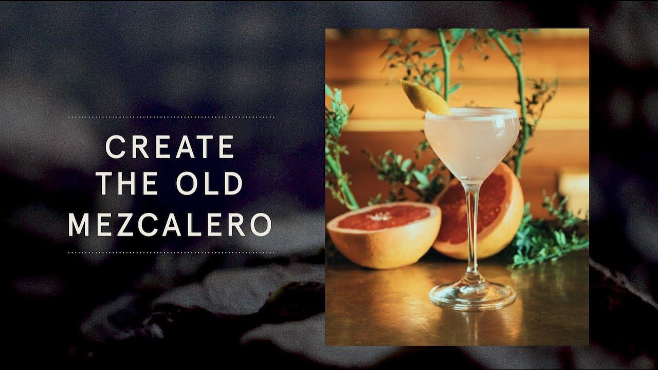 The Old Mezcalero Cocktail Mezcal with Grapefruit Zest Twist