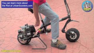 getlinkyoutube.com-Go-Ped Riot 46 Gas Pit Bike Scooter