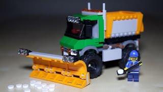 getlinkyoutube.com-Lego City 60083 Snowplow Truck - Lego Speed Build Review