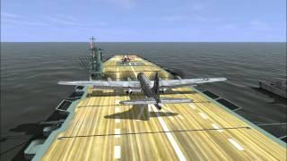 getlinkyoutube.com-IL-2 1946: Weird Carrier Landings
