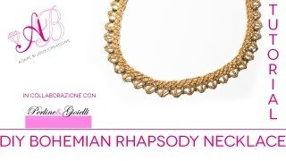 getlinkyoutube.com-Bohemian Rhapsody Necklace Tutorial | 2° video in collaborazione con Perline & Gioielli