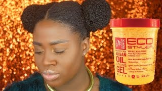 getlinkyoutube.com-HOW TO USE GEL ON NATURAL HAIR: Eco Styler Review & Demo | Lioness Davis